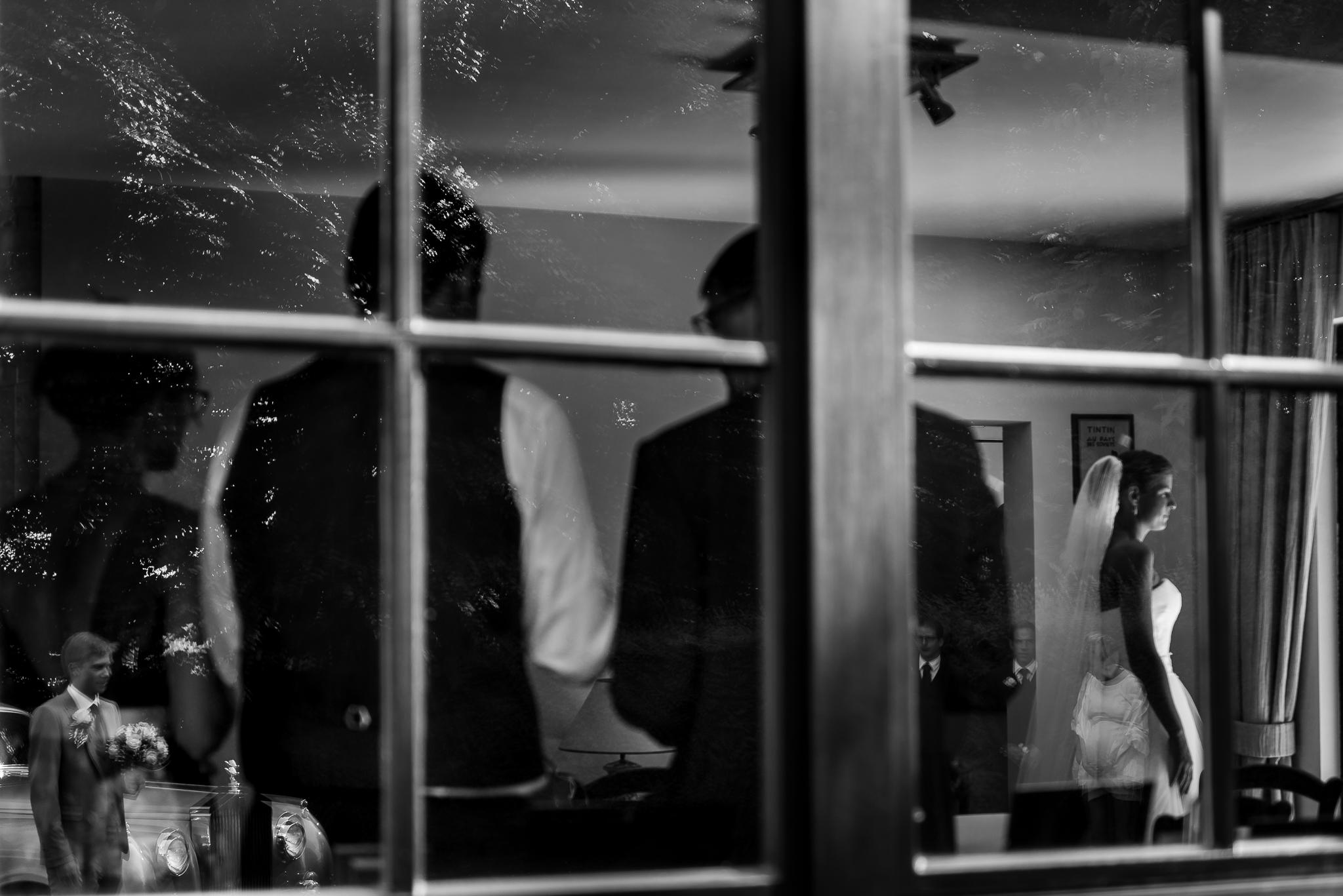 reflectie bruid huwelijksfotograaf