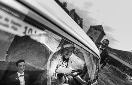 bruidsjonker auto