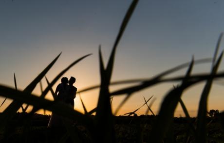 silhouette bruidskoppel